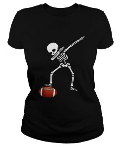 Awesome Football Skeleton Dabbing Sports Halloween Gift  Classic Ladies