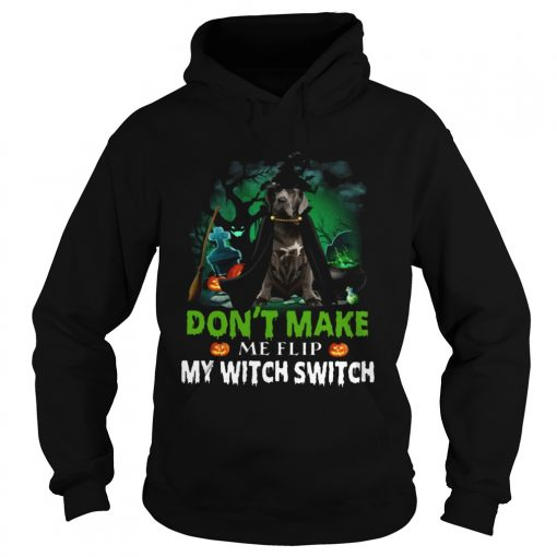 Dont Make Me Flip My Witch Smitch Neapolitan Mastiff Witch Lovers JackOLanterns Halloween Shirts Hoodie