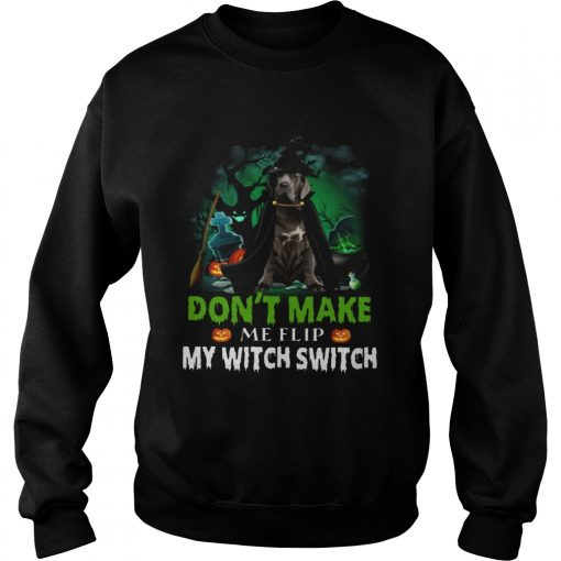 Dont Make Me Flip My Witch Smitch Neapolitan Mastiff Witch Lovers JackOLanterns Halloween Shirts Sweatshirt