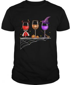 Halloween glasses of wine  Unisex