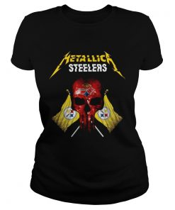 Metallic Pittsburgh Steelers punisher  Classic Ladies