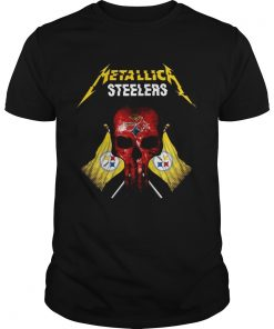 Metallic Pittsburgh Steelers punisher  Unisex