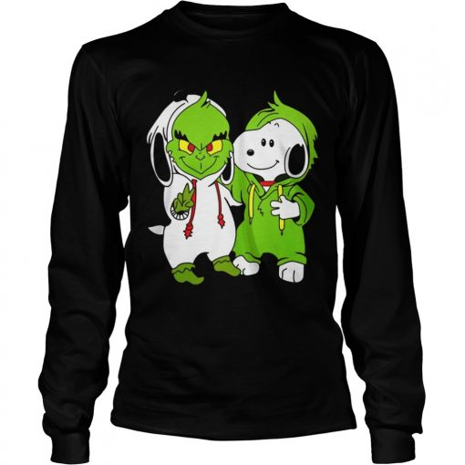 Snoopy And Grinch Fushion Peanuts How The Grinch Stole Christmas Fans Shirts LongSleeve