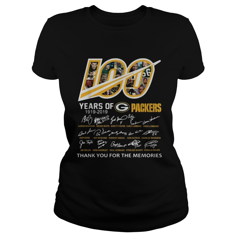100 Years of Green Bay Packers 19192019 signatures Classic Ladies
