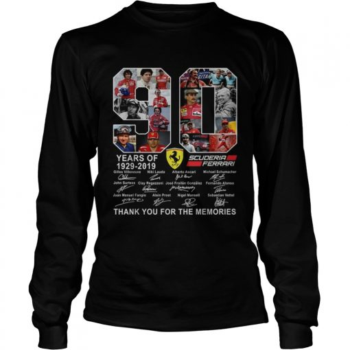 90 years of Scuderia Ferrari thank you for the memories  LongSleeve
