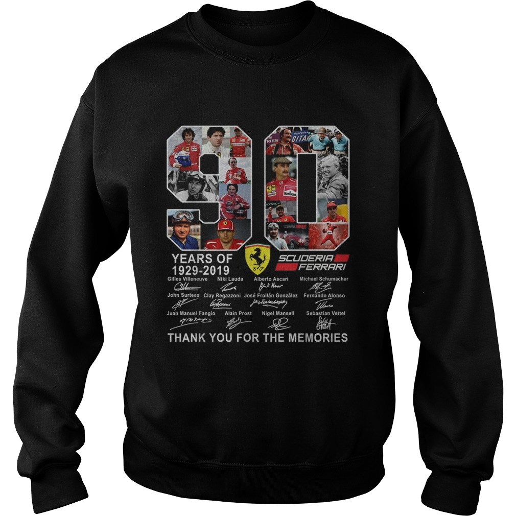 90 years of Scuderia Ferrari thank you for the memories Sweatshirt