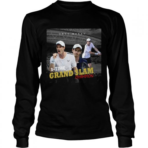 Andy Murray 3 time Grand Slam champion  LongSleeve