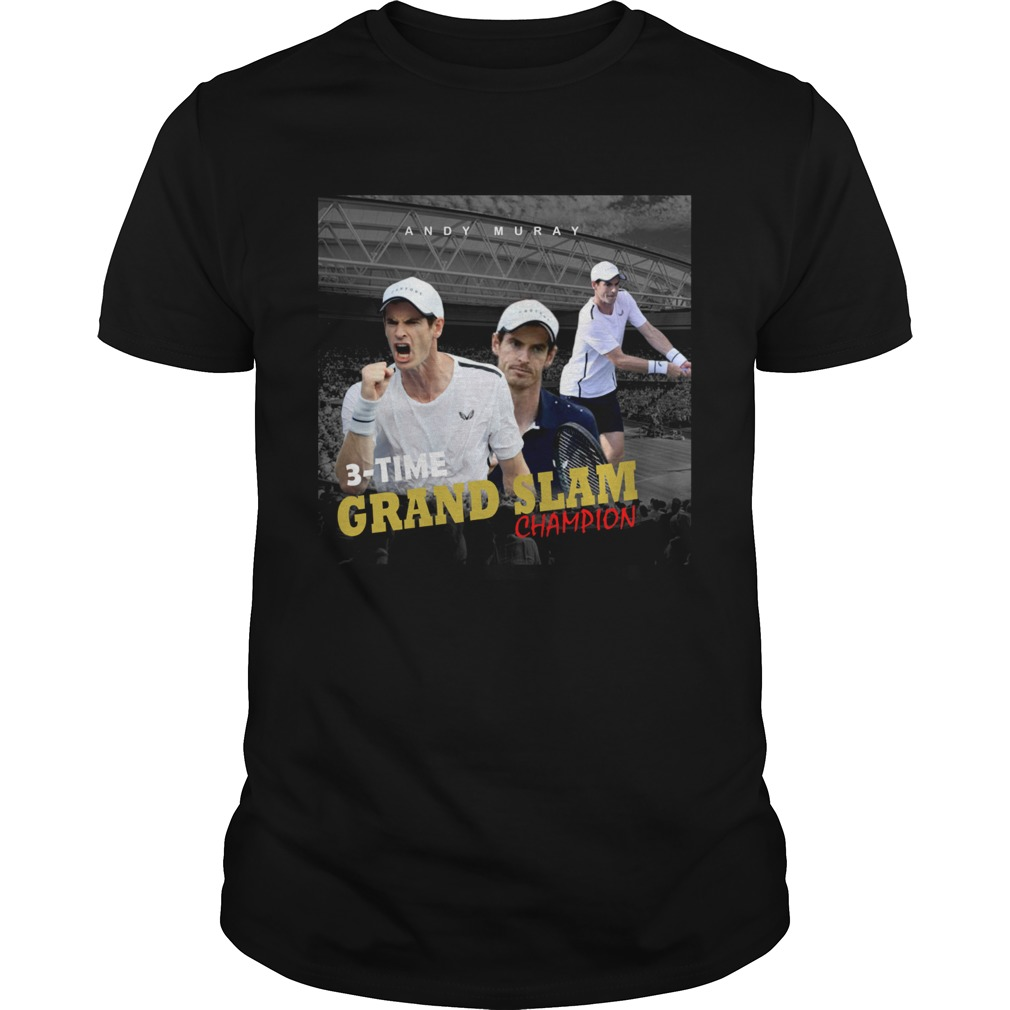 Andy Murray 3 time Grand Slam champion Unisex