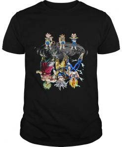Broly Son Goku Vegeta shadow in the mirror  Unisex