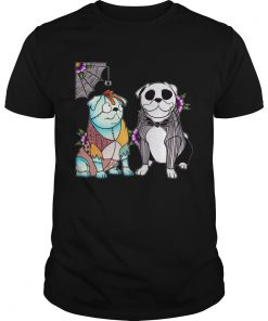 Bulldog Husband Jack skellington and Sally  Unisex