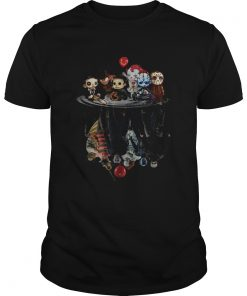 Chibi Horror Movies Characters Reflection Halloween  Unisex