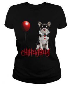 Chihuahua Dog Pennywise Halloween  Classic Ladies