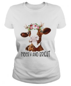 Cow flower mooey and bright  Classic Ladies