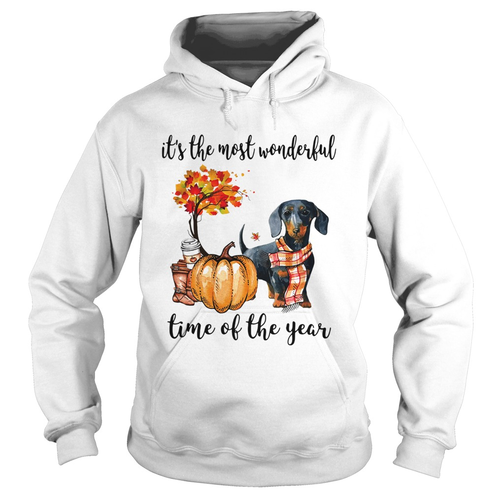 Dachshund its the most wonderful time of the year Hoodie