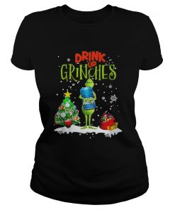Drink up Grinches Christmas Bud Light  Classic Ladies