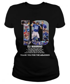 Eli Manning 10 New York Giants thank for the memories  Classic Ladies
