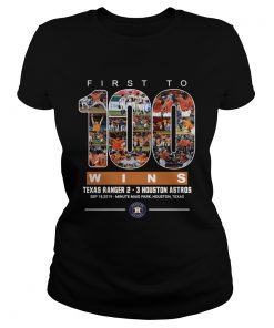 First to 100 wins Houston Astros T Classic Ladies