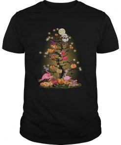 Flamingos tree happy Halloween  Unisex