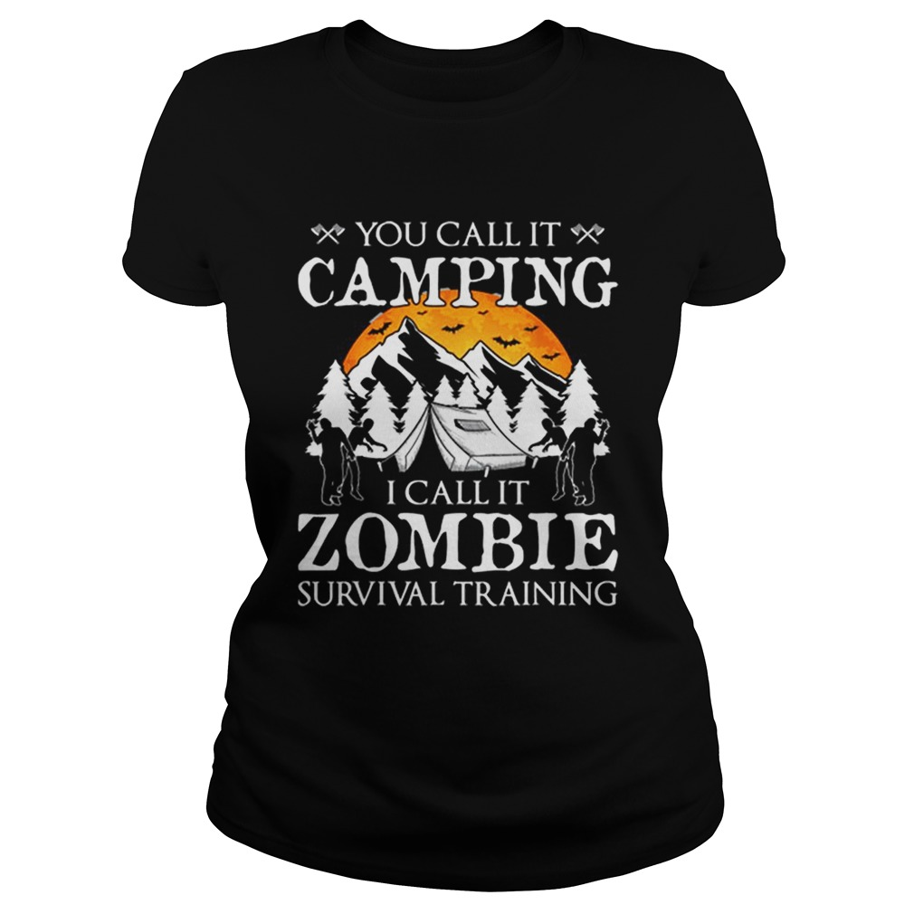 Funny Zombie Survival Training Camping Halloween Costume Gift Classic Ladies