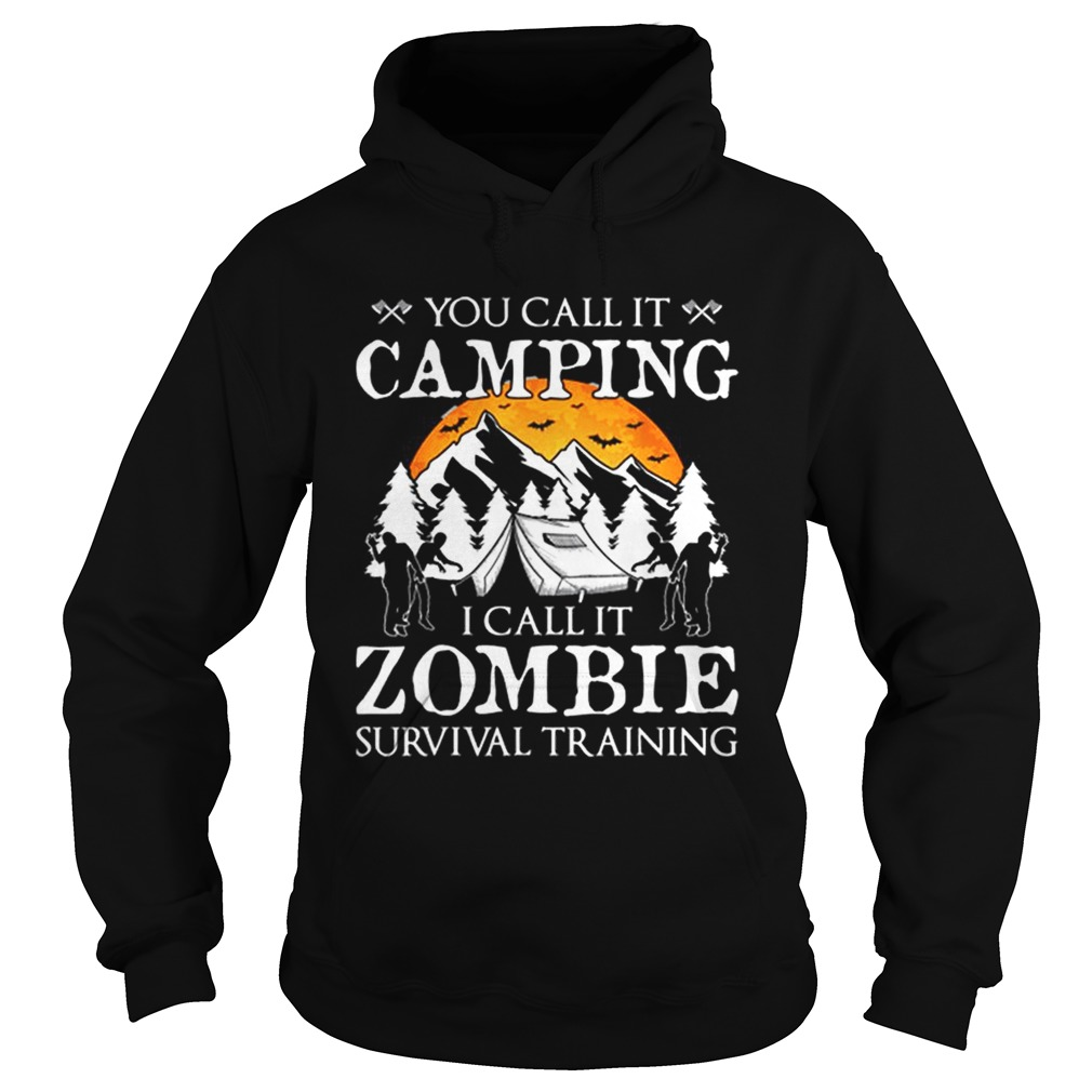 Funny Zombie Survival Training Camping Halloween Costume Gift Hoodie