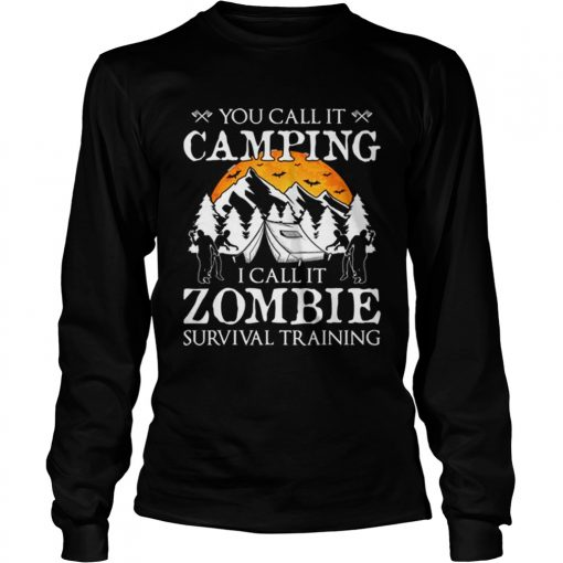 Funny Zombie Survival Training Camping Halloween Costume Gift  LongSleeve