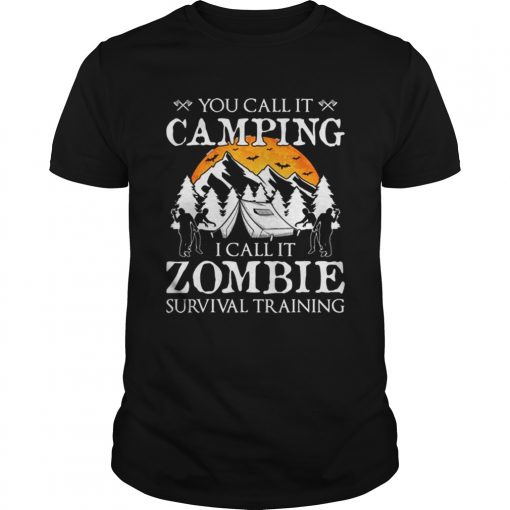 Funny Zombie Survival Training Camping Halloween Costume Gift  Unisex