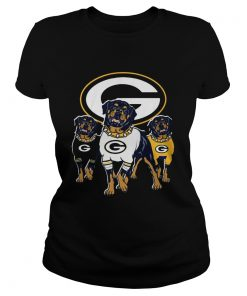 Green Bay Packers Rottweiler dog  Classic Ladies