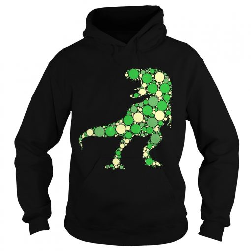 Green Polka Dot T Rex Dinosaur International Dot Day TShirt Hoodie