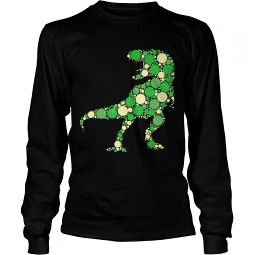 Green Polka Dot T Rex Dinosaur International Dot Day TShirt LongSleeve