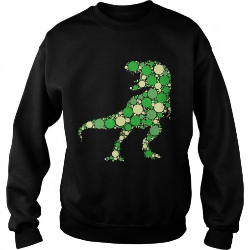 Green Polka Dot T Rex Dinosaur International Dot Day TShirt Sweatshirt