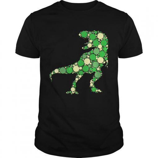 Green Polka Dot T Rex Dinosaur International Dot Day TShirt Unisex