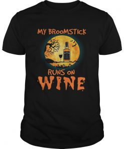 Halloween My broomstick runs on wine Jack Daniels  Unisex