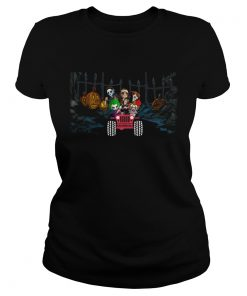 Horror Halloween driving Jeep  Classic Ladies