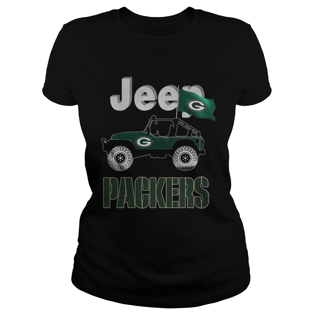 Jeep Green Bay Packers flag Classic Ladies
