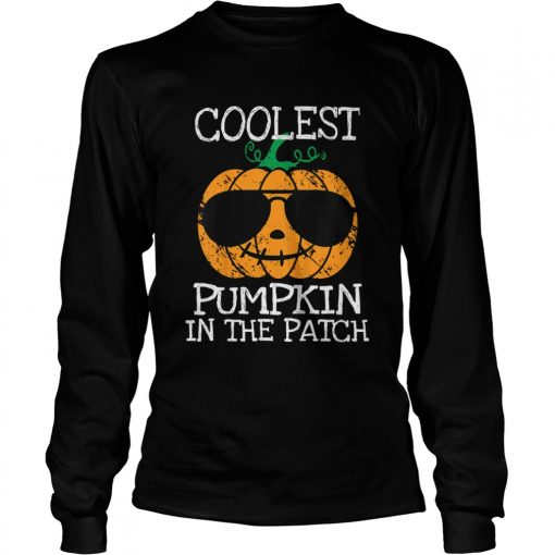 Kids Coolest Pumpkin In The Patch Halloween Costume Boys Gift TShirt LongSleeve