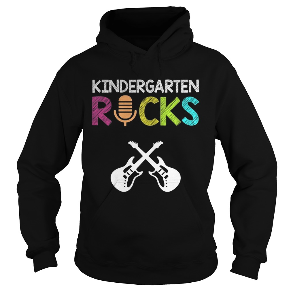 Kindergarten Rocks With Guitar Novelty Gift Kids Music Lover TShirt Hoodie