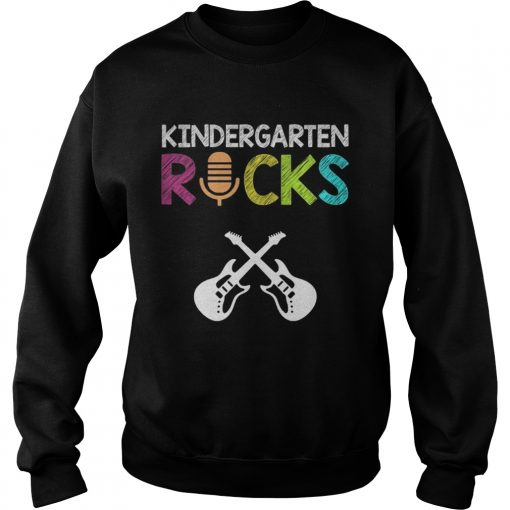 Kindergarten Rocks With Guitar Novelty Gift Kids Music Lover TShirt Sweatshirt
