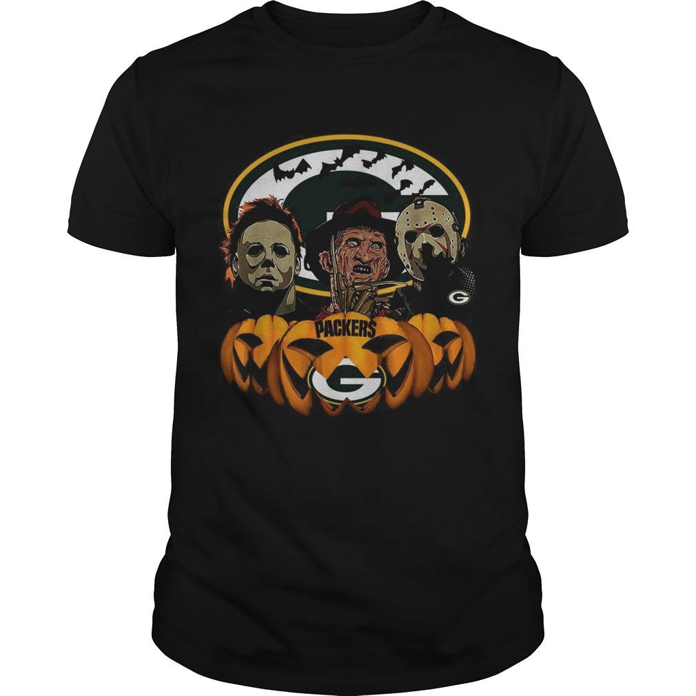 Michael Myers Jason Voorhees and Freddy Krueger Green Bay Packers Halloween Unisex