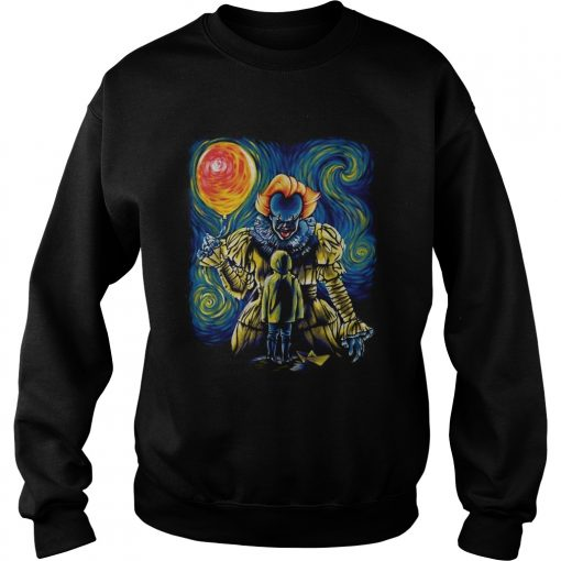 Pennywise and Georgie Van Gogh  Sweatshirt
