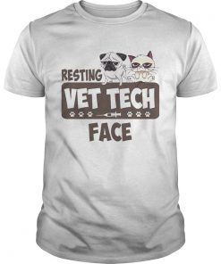 Pug and Grumpy resting vet tech face  Unisex
