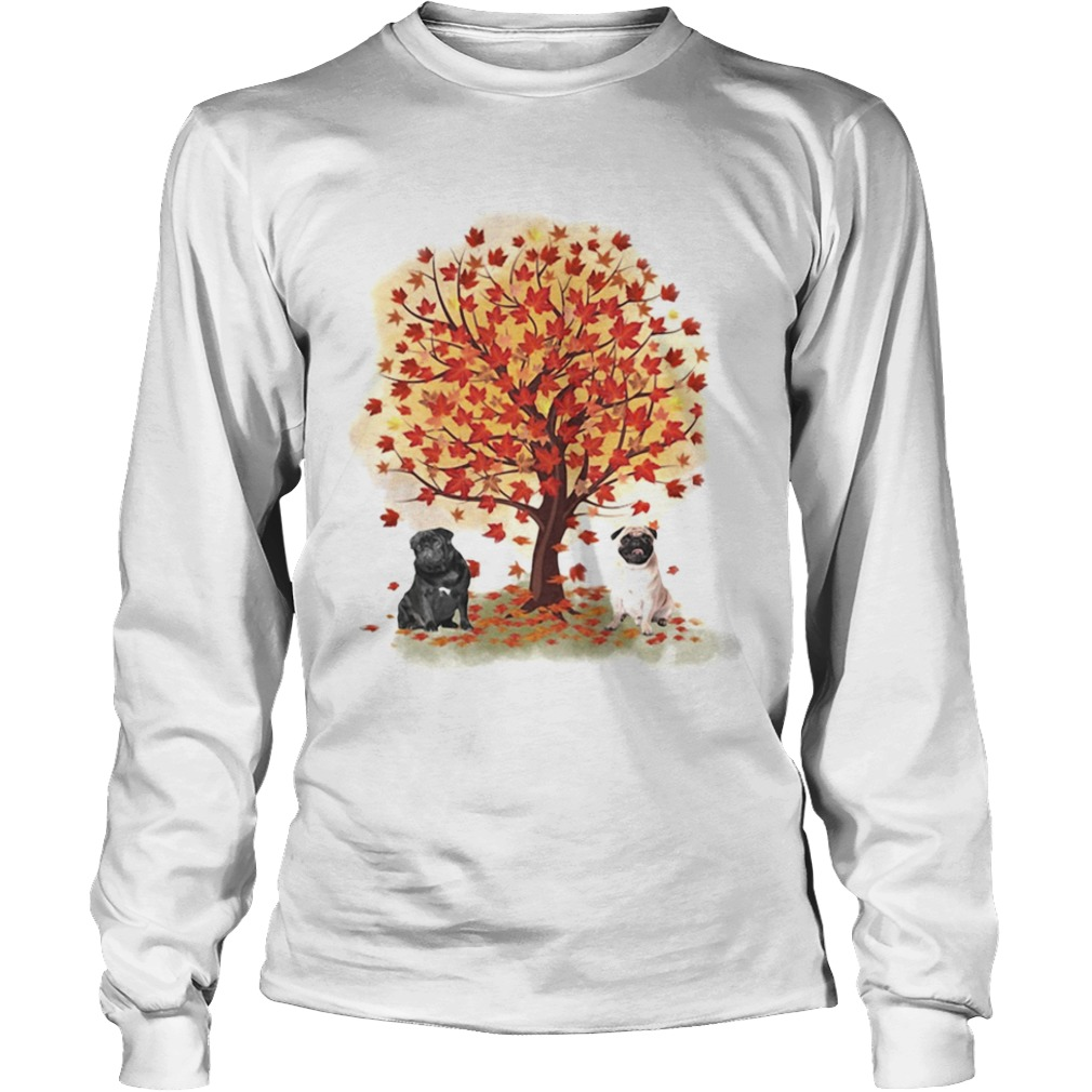 Pugs autumn leaf tree LongSleeve