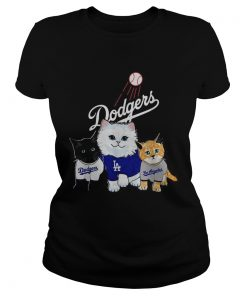 Three cat black white and yellow Los Angeles Dodgers  Classic Ladies