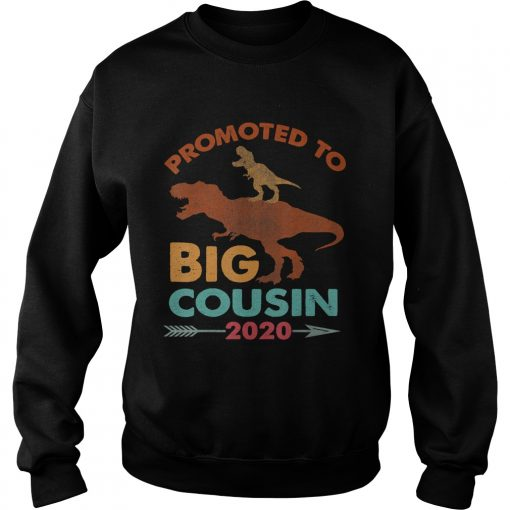 Trex Riding DinosaurVintage Promoted To Big Cousin 2020 TShirt Sweatshirt