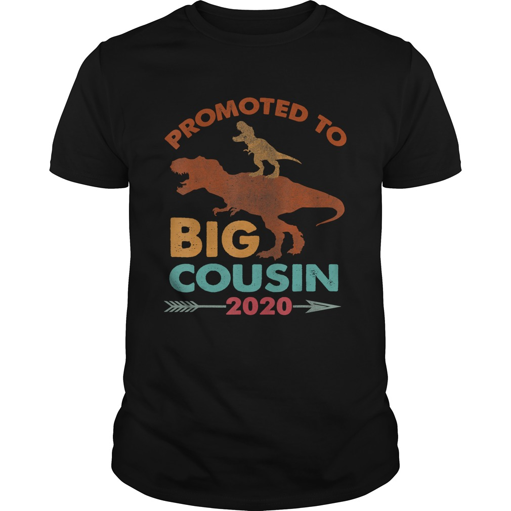 Trex Riding DinosaurVintage Promoted To Big Cousin 2020 TShirt Unisex