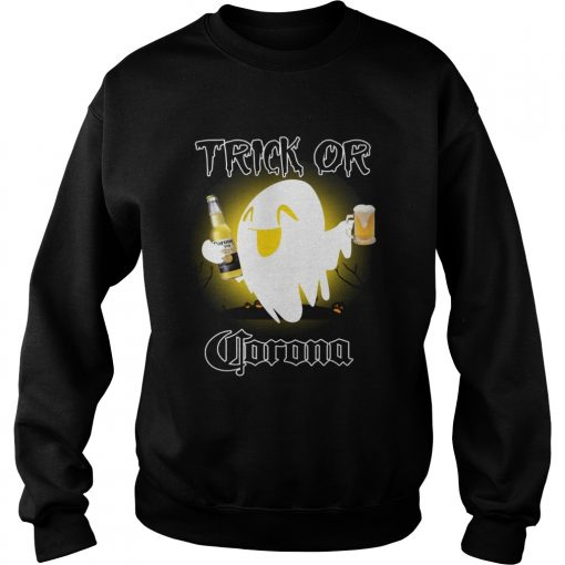 Trick or Corona ghost Halloween  Sweatshirt