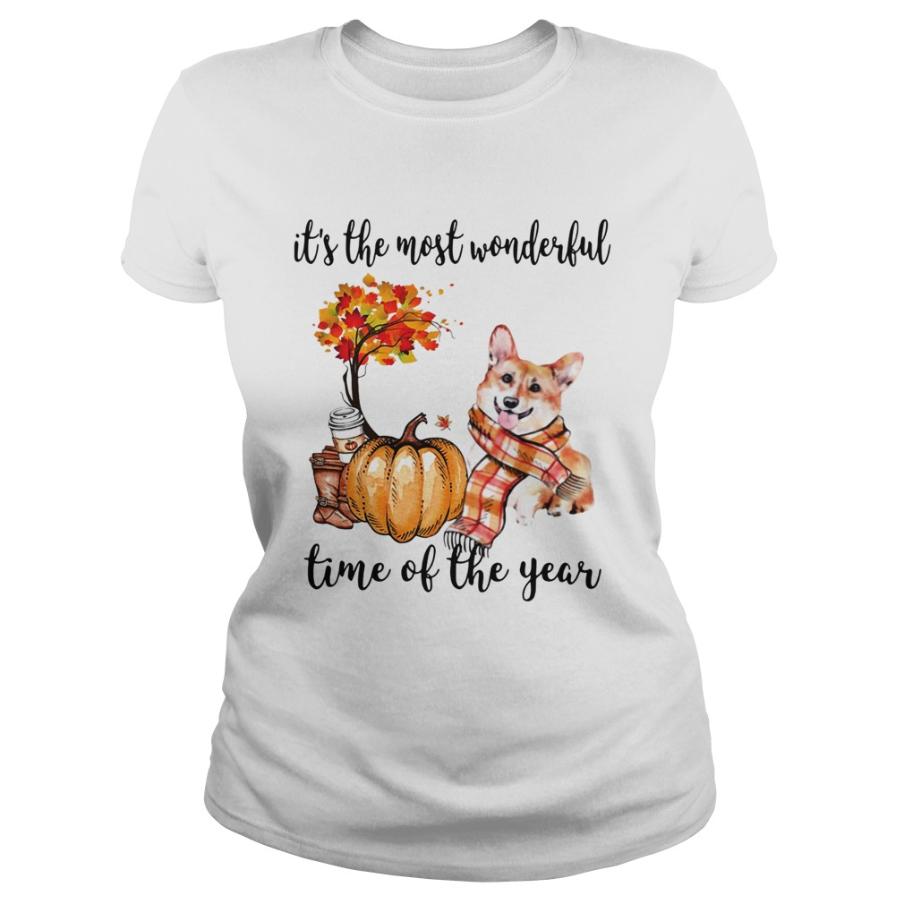 Welsh Corgi its the most wonderful time of the year Classic Ladies