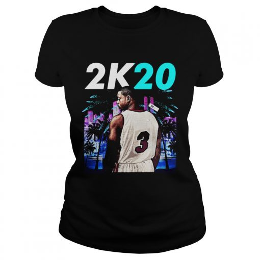 Wintertee 2K20Wade 3 Miami Basketball Jersey for Shirt Classic Ladies
