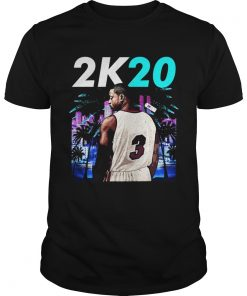 Wintertee 2K20Wade 3 Miami Basketball Jersey for Shirt Unisex