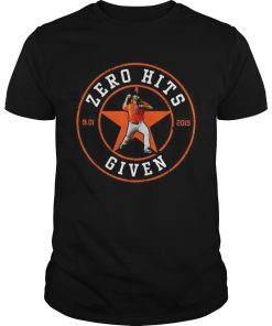 Zero Hits 9 01 2019 given Houston Astros  Unisex