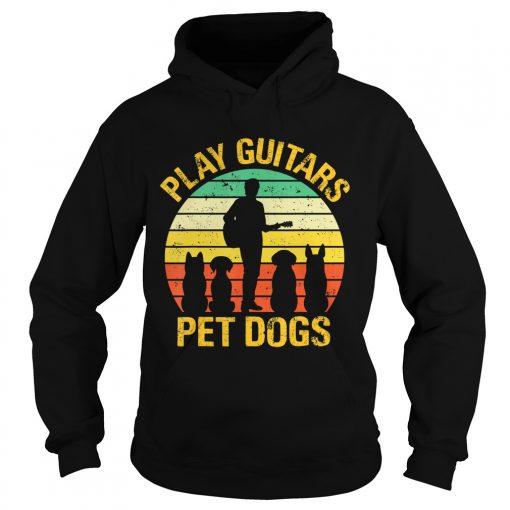 vintage Play guitars pet dogsTShirt Hoodie